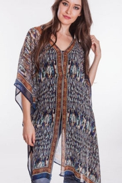Sevya Ikat Crepe Kaftan - Alternate List Image