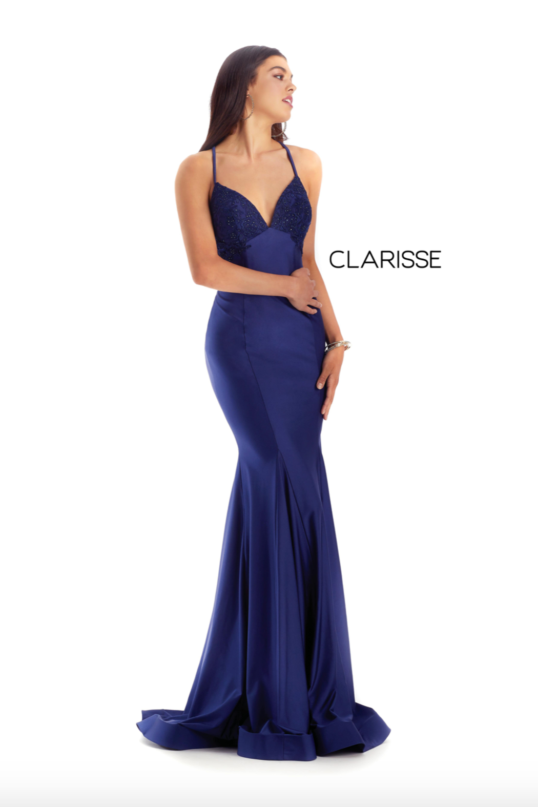 CLARISSE Sexy Beaded Gown - Front Cropped Image