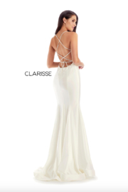 CLARISSE Sexy Beaded Gown - Front cropped