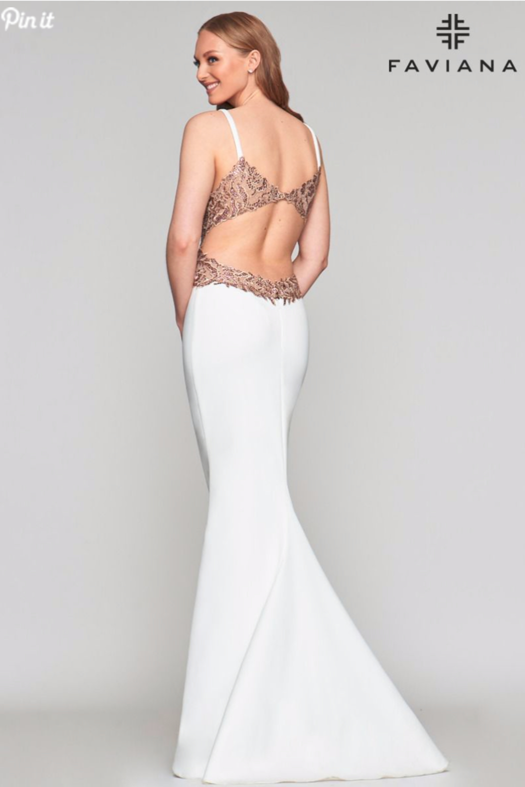 Faviana Sexy Beaded Gown - Front Full Image