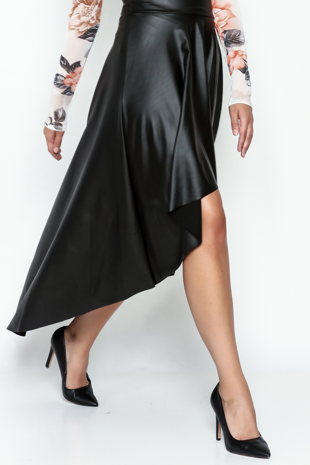 Sexy Diva  Black High Low Skirt - Main Image