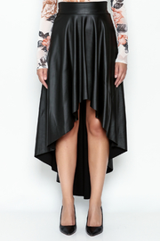 Sexy Diva  Black High Low Skirt - Front full body
