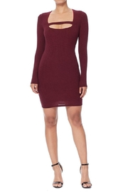 Lani Sexy Marsala Dress - Product Mini Image