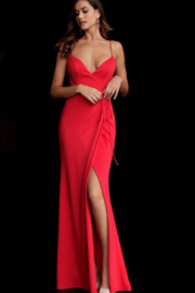 Jovani Sexy Red Gown - Product Mini Image