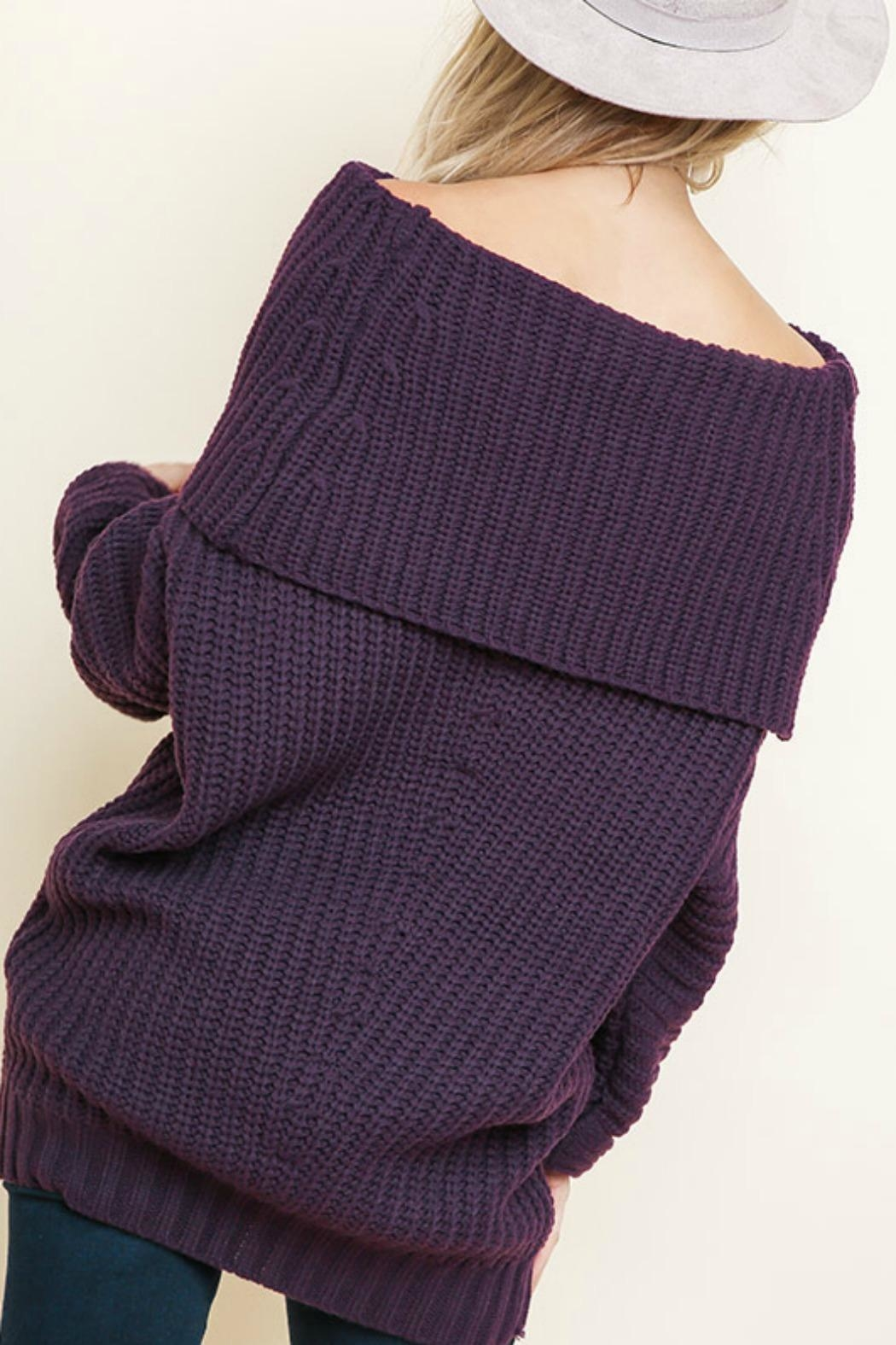 Umgee USA Sexy Ribbed Sweater - Front Full Image