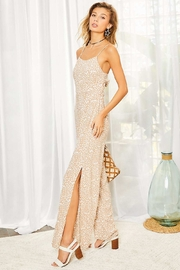Mainstrip  Sexy Side Slit Taupe Jumpsuit - Product Mini Image