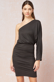 entro  Sexy & Solid One Shoulder Long Sleeve Dress - Product Mini Image
