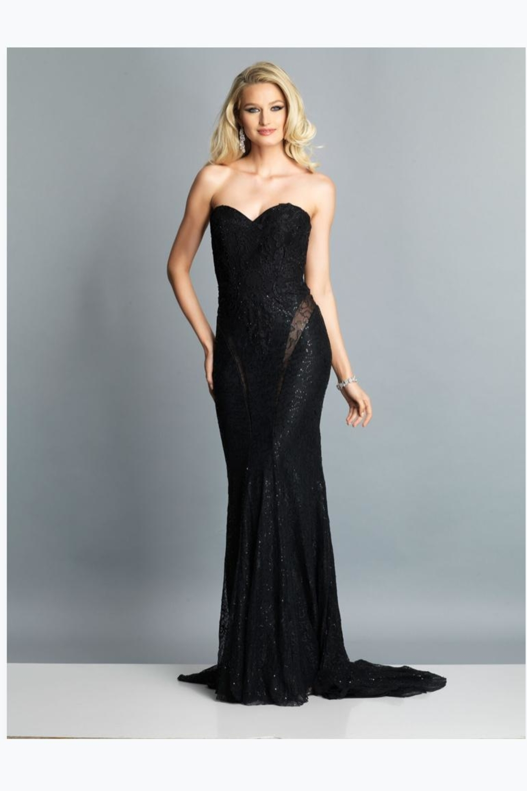 Dave and Johnny Sexy Strapless Gown - Main Image
