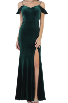 Cindy Collection Sexy Velvet Gown - Alternate List Image