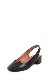 Seychelles Black Leather Flat - Front cropped