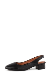 Seychelles Black Leather Flat - Side cropped