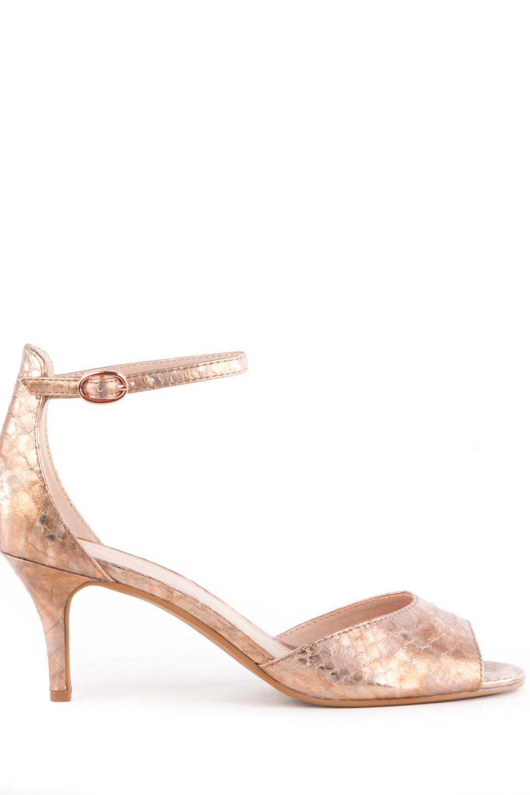 Rose Gold Mid Heel