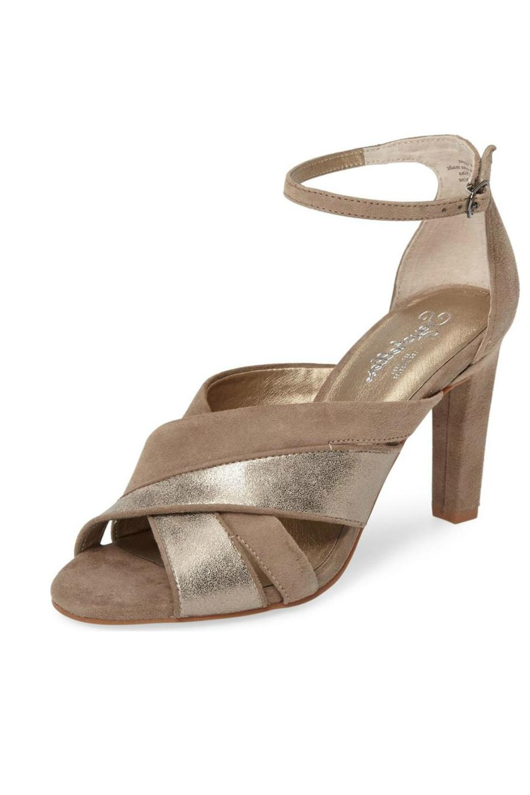 Seychelles Shimmery Gold Heel - Front Cropped Image