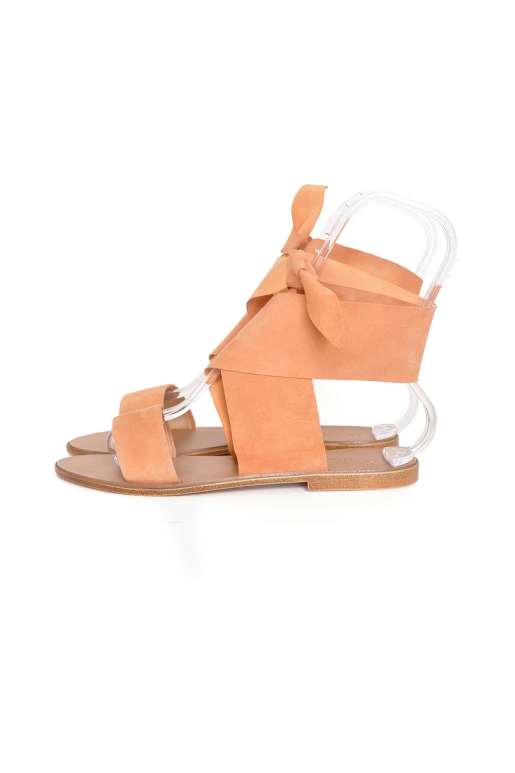 Seychelles Suede Tie Sandals - Front Cropped Image