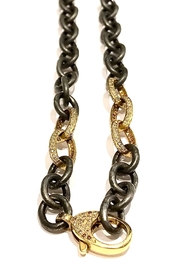 Slate Gray Gallery Gold Oss Chain - Front cropped