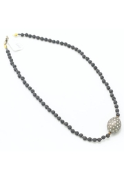 Slate Gray Gallery Lava Bead Necklace - Product Mini Image