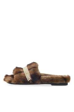 Kendall + Kylie Shade Faux-Fur Slides - Product List Image