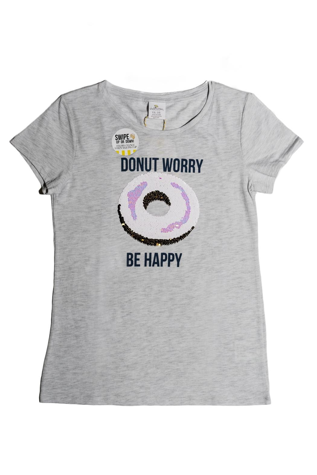 shade critters PALM BEACH Donut Worry Sequin - Front Full Image
