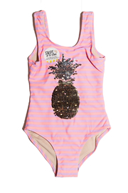 shade critters PALM BEACH Pineapple Sequin One-Piece - Front cropped