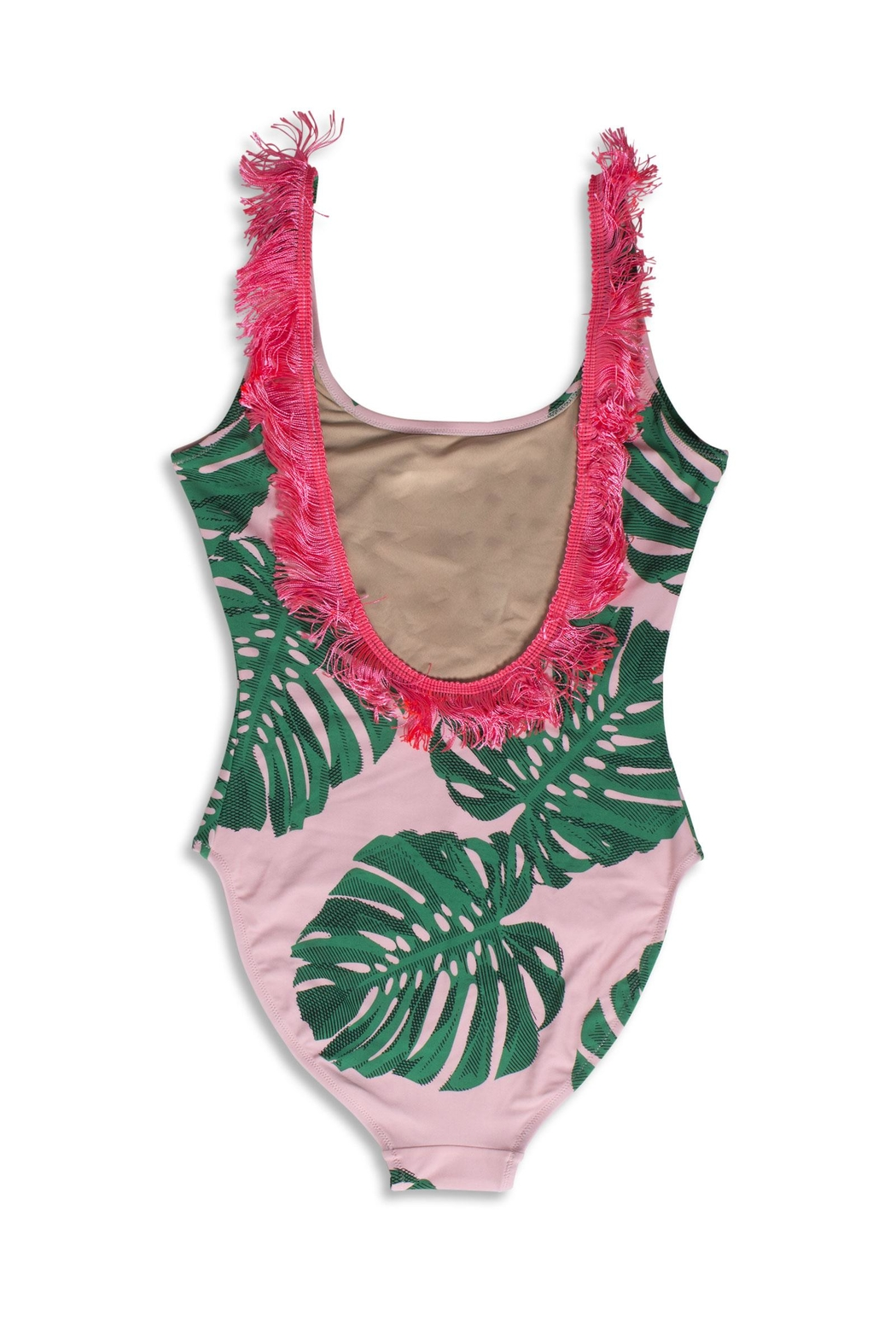 shade critters PALM BEACH Pink Palm Onepiece - Front Full Image
