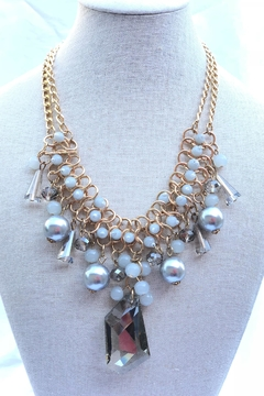Fashion Jewelry Shades-Of-Grey Statement Necklace - Alternate List Image