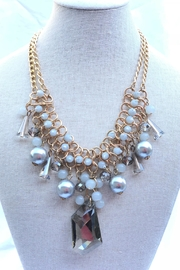 Fashion Jewelry Shades-Of-Grey Statement Necklace - Product Mini Image