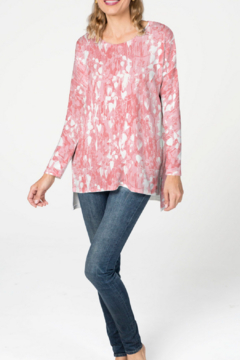 Whimsy Rose Shadow Coral - Relaxed Butterknit Top - Alternate List Image