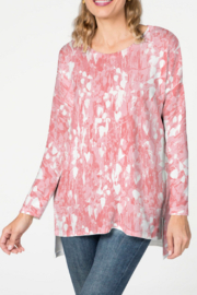 Whimsy Rose Shadow Coral - Relaxed Butterknit Top - Product Mini Image