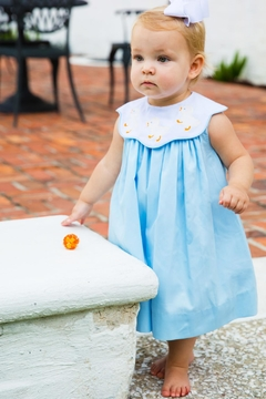Bailey Boys Shadow-Stitch Ducky Float-Dress - Alternate List Image