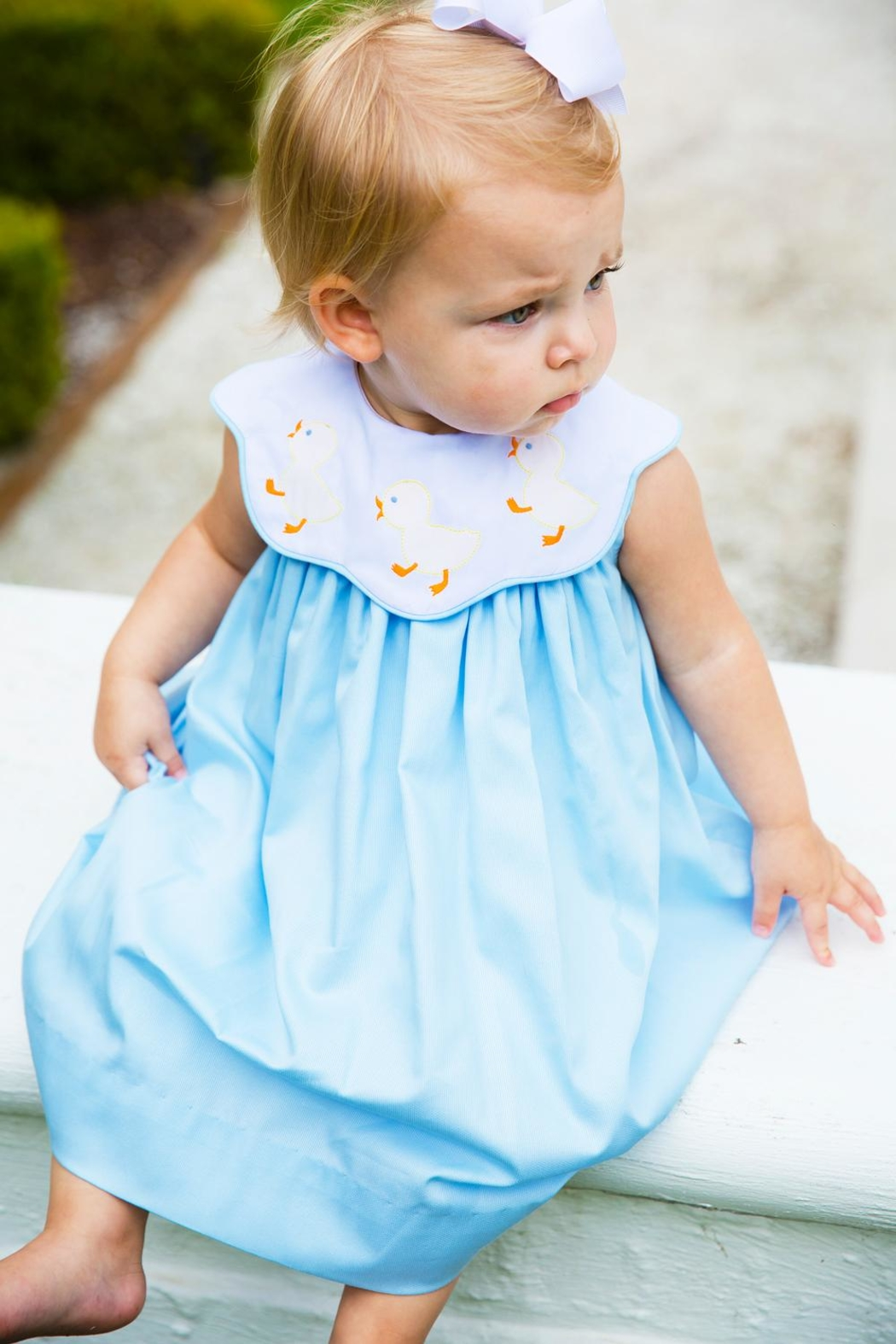 Bailey Boys Shadow-Stitch Ducky Float-Dress - Main Image