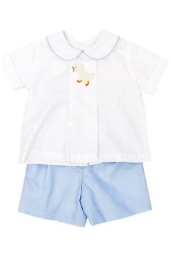 Bailey Boys Shadow-Stitch Ducky Short-Set - Alternate List Image
