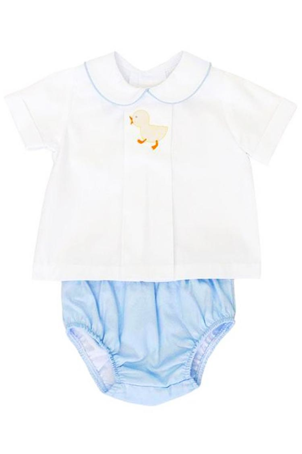 Bailey Boys Shadow-Stitch-Ducky Top & Diaper-Cover-Set - Main Image