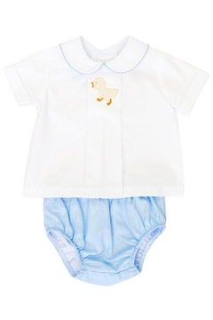 Bailey Boys Shadow-Stitch-Ducky Top & Diaper-Cover-Set - Alternate List Image