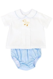 Bailey Boys Shadow-Stitch-Ducky Top & Diaper-Cover-Set - Front cropped