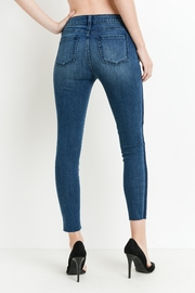 just black Shadow Striped Skinnies - Side cropped