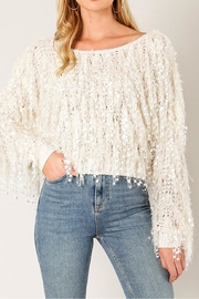 Wow Couture Shaggy Fringe Sweater - Product Mini Image