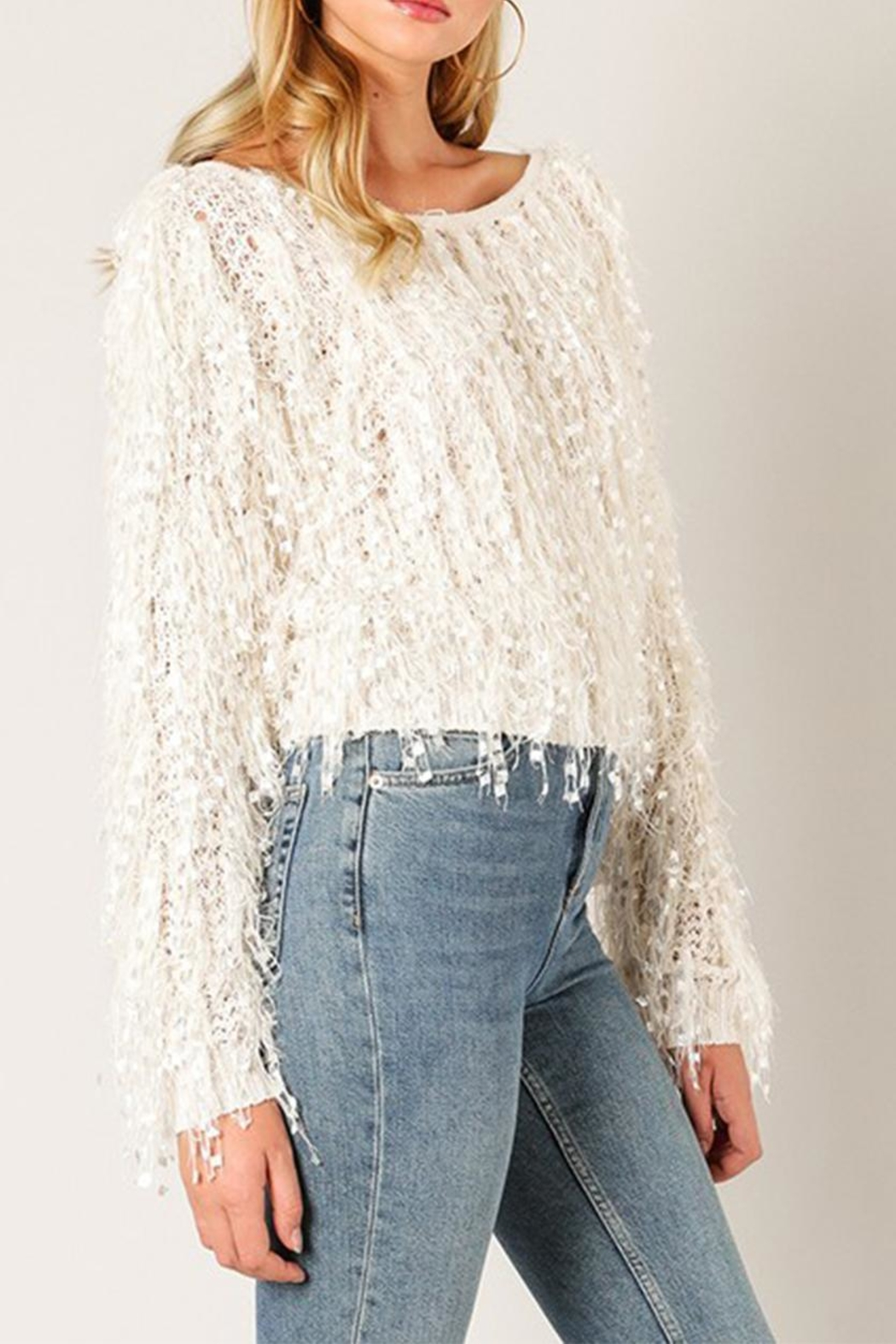 eb7cb98f703261 Wow Couture Shaggy Fringe Sweater from New York by Dor L'Dor ...