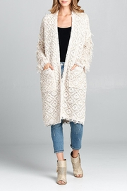 hummingbird Shaggy Open Cardigan - Product Mini Image