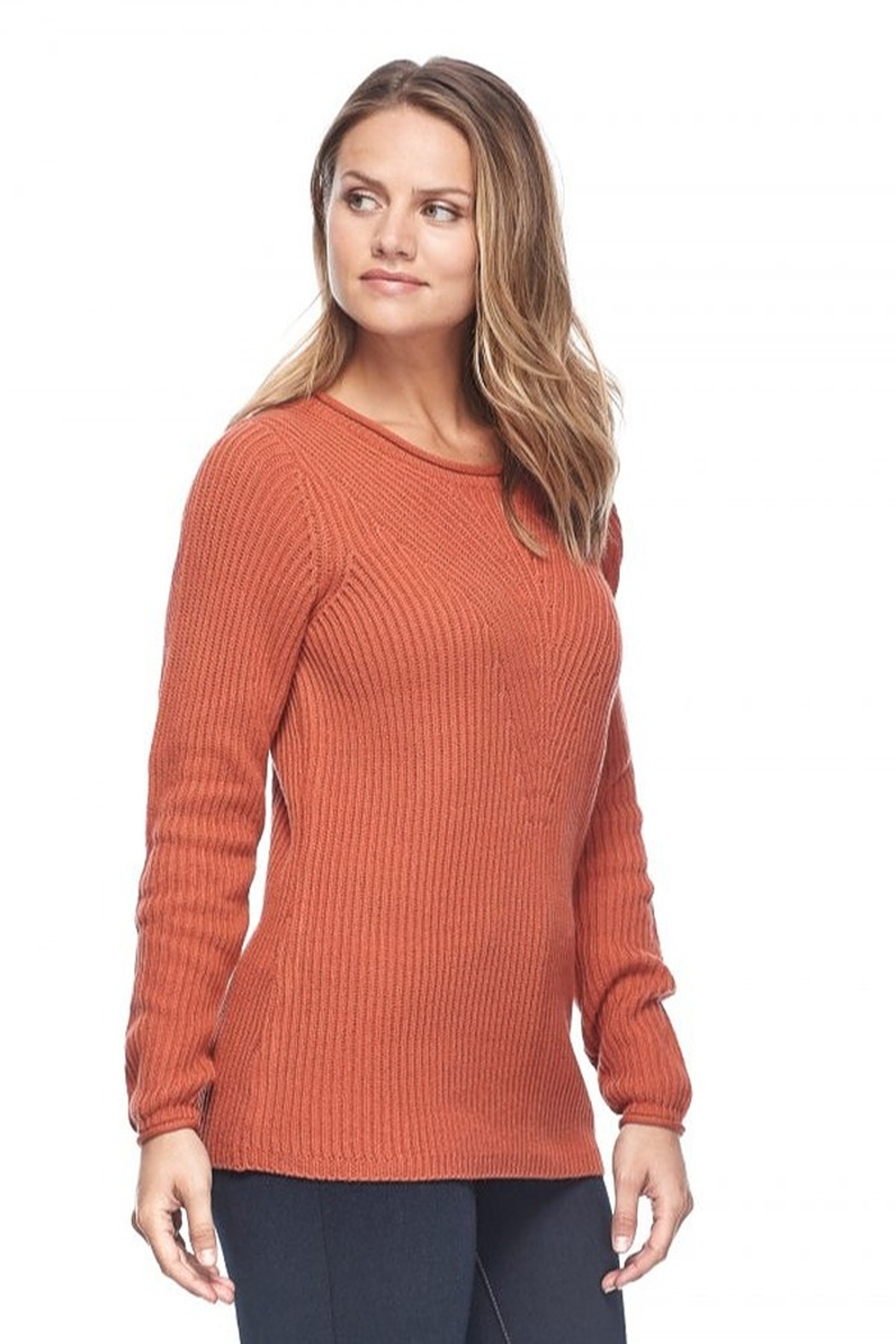 French Dressing Jeans Shaker Crew Sweater - Front Full Image