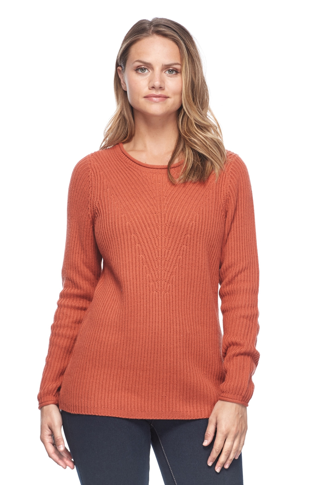 French Dressing Jeans Shaker Crew Sweater - Front Cropped Image
