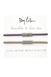 The Birds Nest SHAKER SILVER HAIR TIES - Product Mini Image