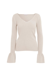 Minnie Rose Shaker Sleeve Sweater - Product Mini Image