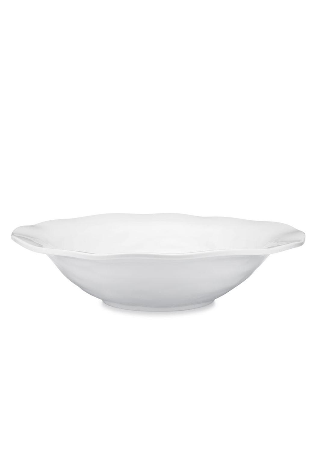 Q Squared Shallow Round Bowl - Front Full Image