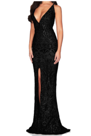 Nookie Shanina Plunge Gown - Front full body