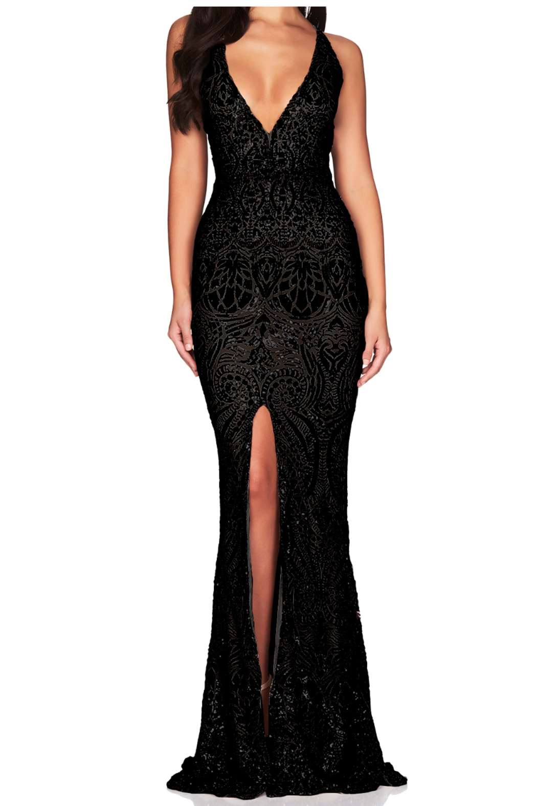 Nookie Shanina Plunge Gown - Front Cropped Image