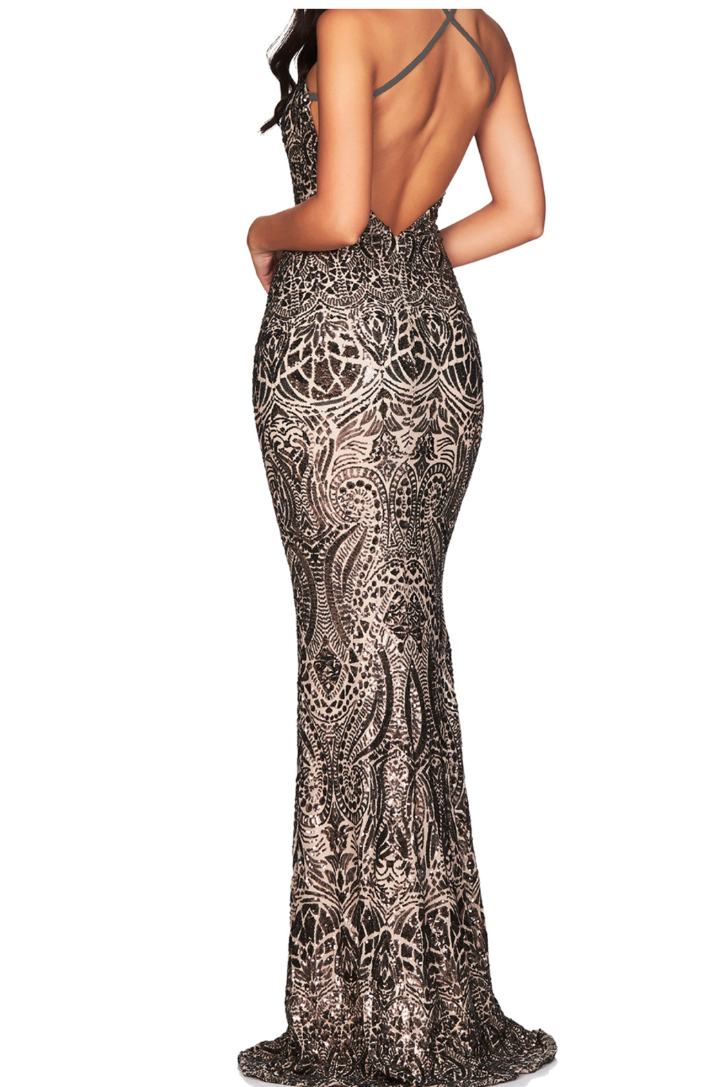 Nookie Shanina Plunge Gown - Side Cropped Image