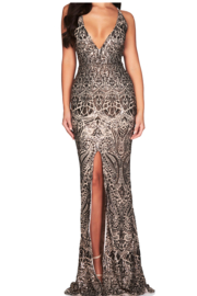 Nookie Shanina Plunge Gown - Product Mini Image