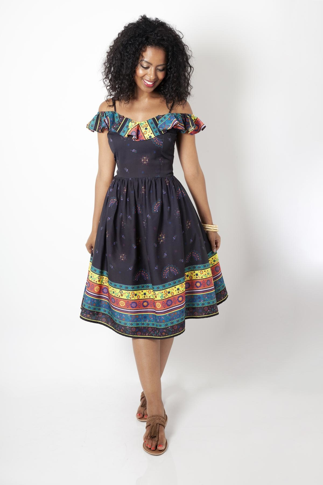 Voodoo Vixen Shannon Flared Dress - Front Cropped Image