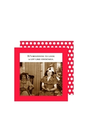 Shannon Martin Holiday Cocktail Napkins - Front cropped