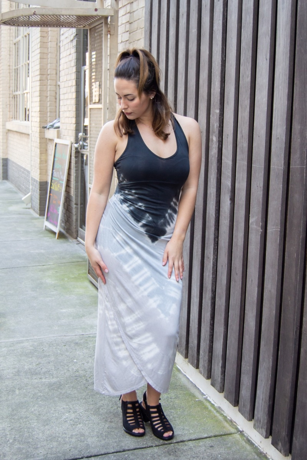 RIVER AND SKY Shanti Ombre Racerback Midi Dress - Main Image